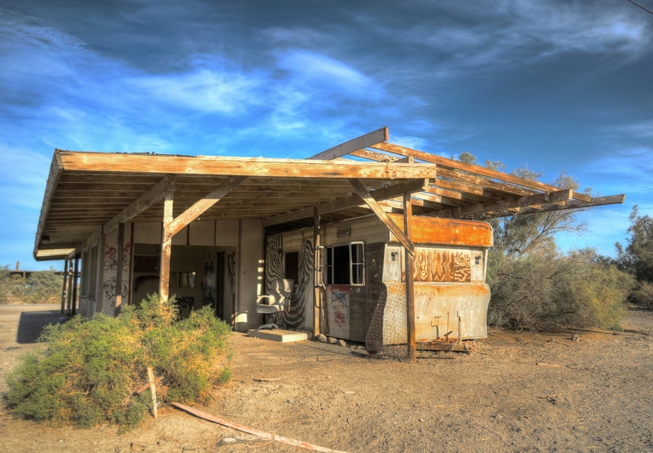 Abandoned house at the Salton Sea
