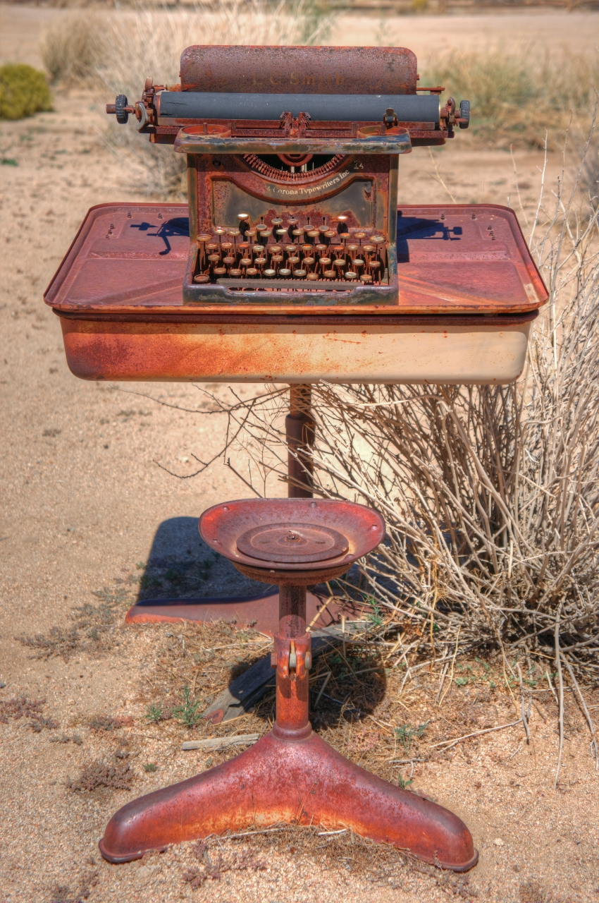 typewriters in the desert
