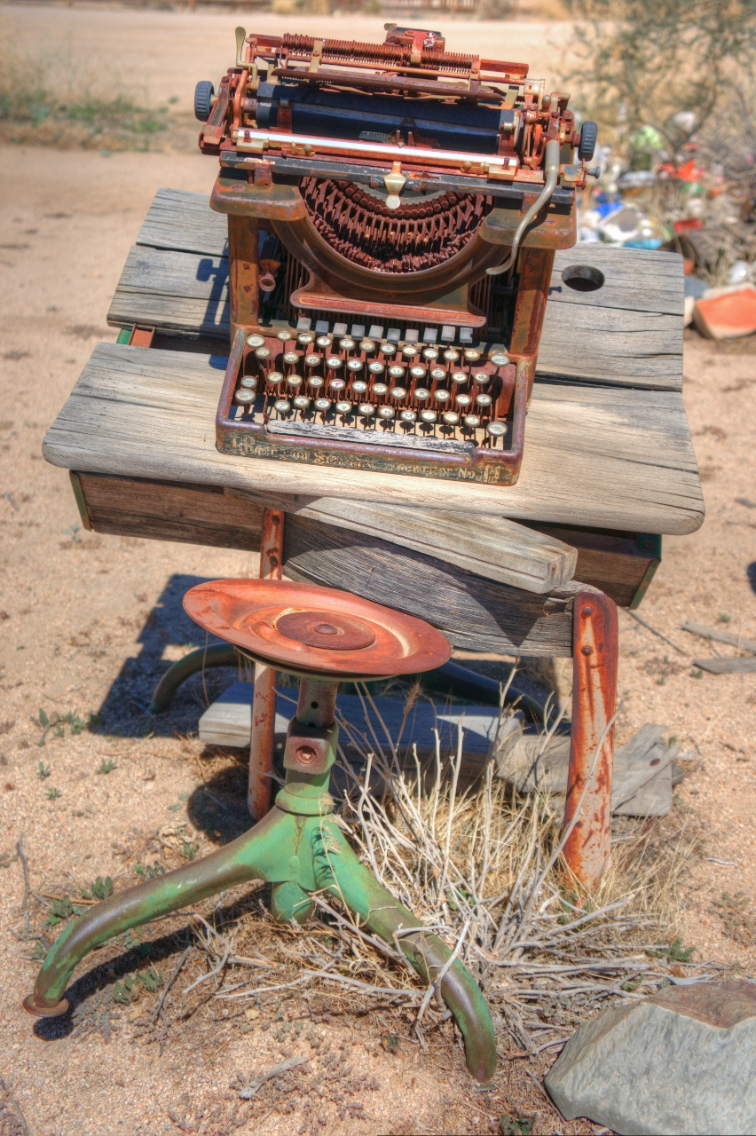 typewriters in the desert